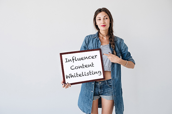 influencer content whitelisting