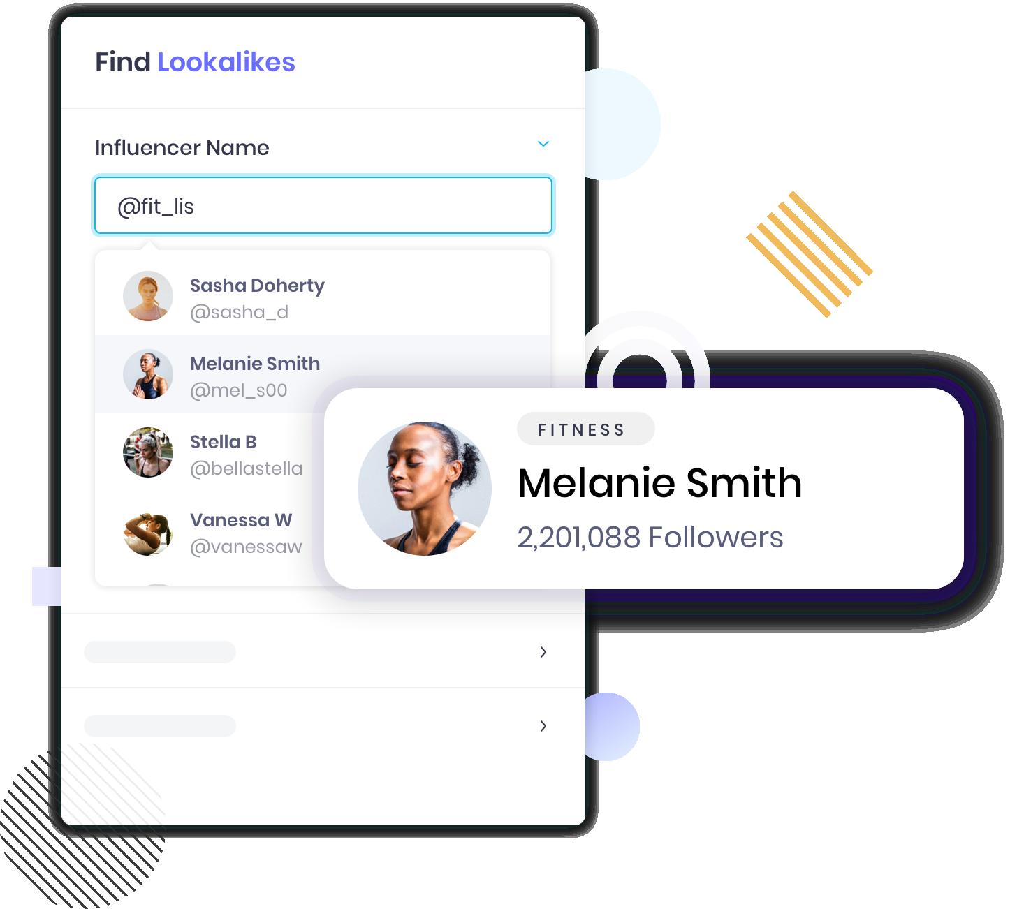 find influencer lookalike tool